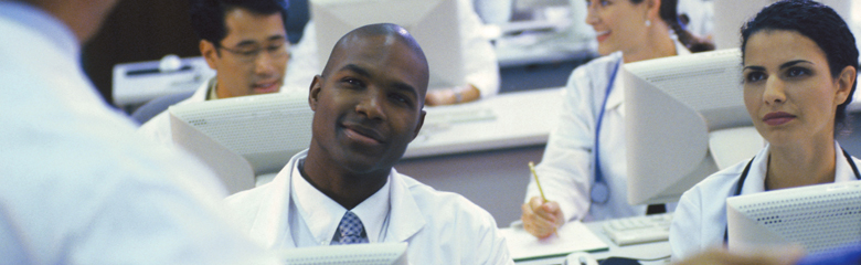 Photo of students in a medical class